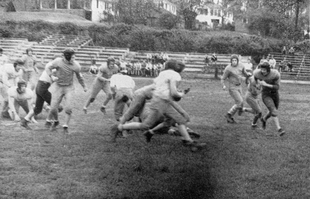 1945 Football in action